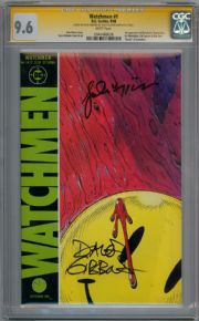 Watchmen #1 (1986) CGC 9.6 Signature Series SS Signed Dave Gibbons John Higgins DC comic book